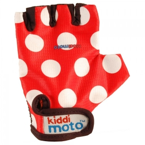 Gants KIDDIMOTO red dotty